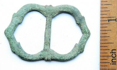 Ancient Old Bronze Ornament Decorated Buckle (JUL02)