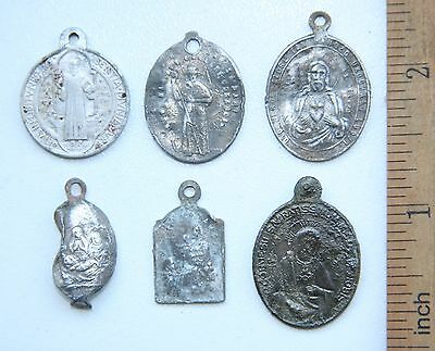 Group Of Ancient Old Catholic Medallion Pendant Scapular Szkaplerz (DEC01)