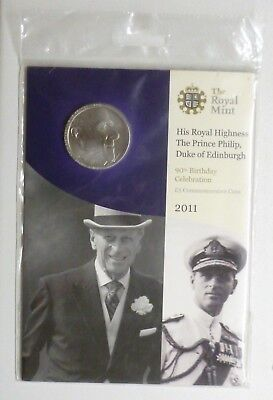 HRH Prince Philip 90th Birthday BUnc £5 Coin Crown 2011 Sealed Royal Mint Pack