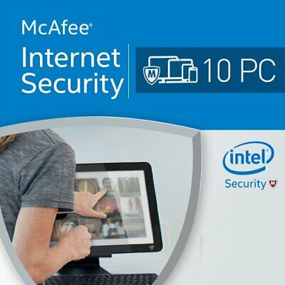 McAfee Internet Security 2019 Unlimited Appareils 1 An   2018 FR