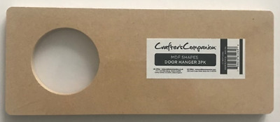 Crafters Companion - MDF Shapes - Door Hanger - 3pk