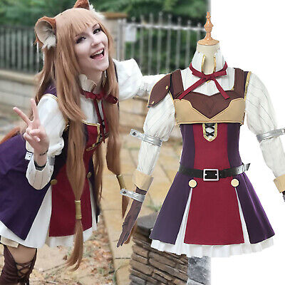 The Rising of The Shield Hero Raphtalia Cosplay Costumes Comic Con Fancy Dress