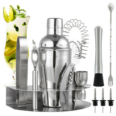 Stainless Steel Cocktail Shaker Mixer Drink Bartender Tools Bar Set Kit