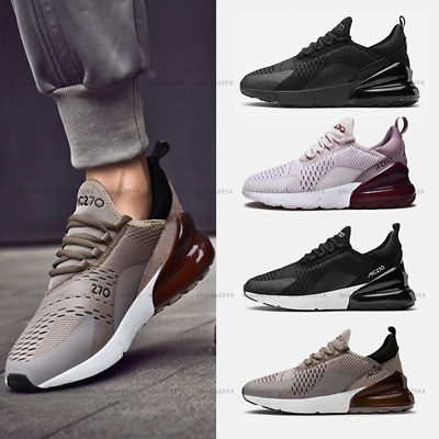 New Womens Mens sport Shoes Breathable Comfy Gym Running Trainers Sneaker AIR270
