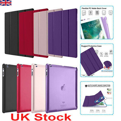 Slim Magnetic Leather Smart Stand Shockproof Case Cover for Apple iPad 2/3/4 UK