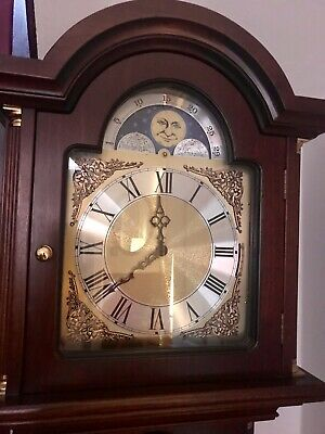 Beautiful Long case Grandfather Clock No reserve From A Clean, Non Smoking Home
