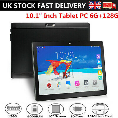 "10.1"" Inch Tablet PC 6G+128G Android 8.1 Ten Core Wifi 2 SIM Camera Phone Call C"