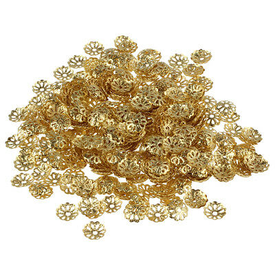 5X(500X 6mm Gold Tone Flower Bead Caps for Jewelry Making X7K8