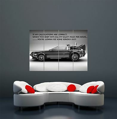 Back To The Future Delorean Giant Art Poster Print  Wa407