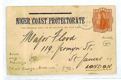 NIGER COAST PROTECTORATE Fort George Stationery [samwells-covers] 1899 CW2