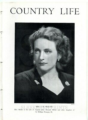 1944 COUNTRY LIFE Magazine CHARTERS SUNNINGDALE Margaret Younger Moller (8942)