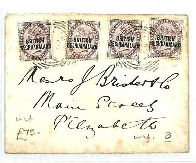 BRITISH BECHUANALAND Cover 1895 1d Lilac GB Overprints {samwells-covers}CW7