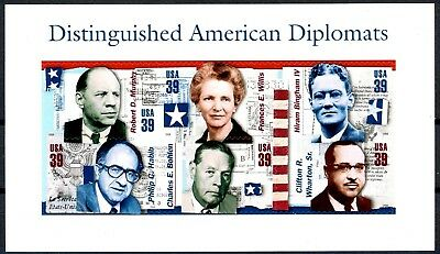 Distinguished American Diplomats Complete Sheet of 6 MNH Scott's 4076