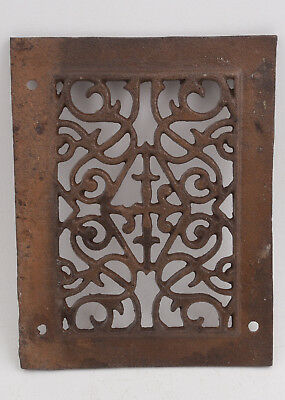 "Cast Iron Victorian Grate (H4L) 9.75 x 7.5"" Heating Ventilation Duct"