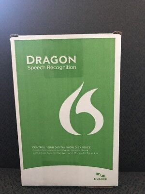 NUANCE Dragon Naturally Speaking Home 13 Version 13.0 w/Headset & Mic ✔NEW✔