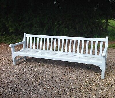 Excellent Vintage Wooden Garden Bench 185 00 Picclick Uk Caraccident5 Cool Chair Designs And Ideas Caraccident5Info