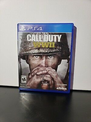 CALL OF DUTY: WW2 WWII PS4 (Playstation 4, 2017) COD World War 2 Video Game