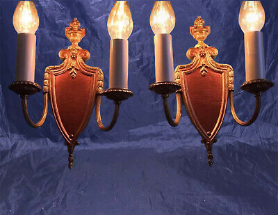 Beautiful Sconces Vintage Antique Wired Pair Great 8A