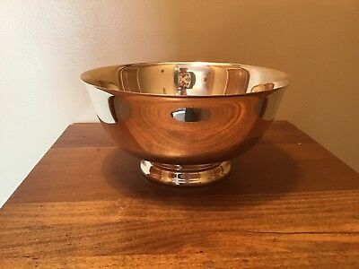 """Reed And Barton 8"""" Paul Revere Style Silverplate Bowl #104"""