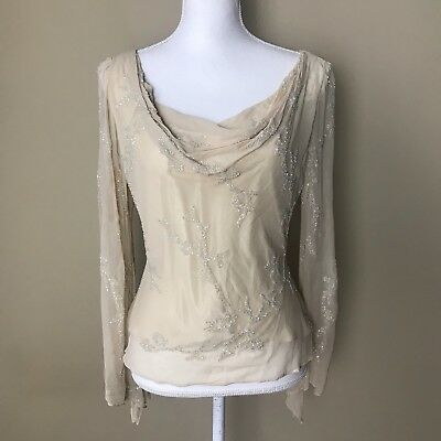 8caaf4f10a2438 VINTAGE NWT SILK Cream Starington Blouse By Charlotte Saks Fifth Ave ...