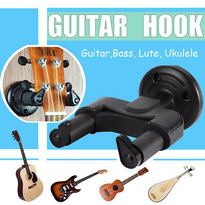 3X Guitar Hanger Automatic Removable Wall Mount Hooks Stand With Foam Coated  -