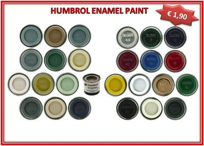 SMALTO PER MODELLISMO HUMBROL ENAMEL GLOSS METALLIC MATT 14ml