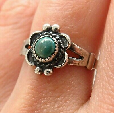 Old Pawn Bell Trading Post 925 Silver Abalone Shell Wide Floral Ring Size 7 Fine Jewelry Jewelry & Watches