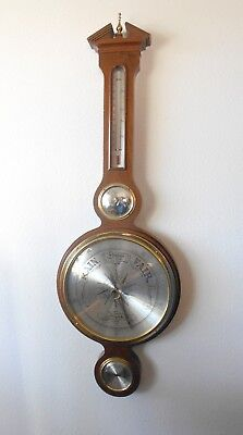 """Fabulous Vintage Airguide Compensated Barometer Weather Station 38"""" Tall"""