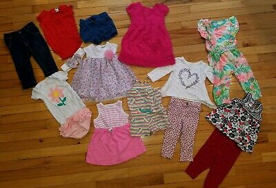 47103838214d Baby Girl Clothes Summer Spring Lot Of 15 Items Toddler 12 Month Cat & Jack  More