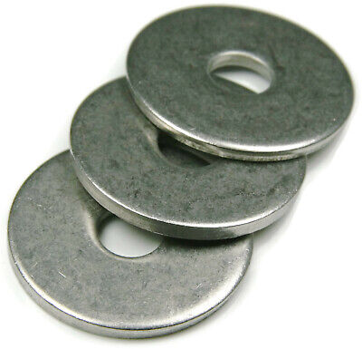 """Stainless Steel Fender Washers Extra Thick Washers SAE Inch Sizes 1/4"""" - 1/2"""""""
