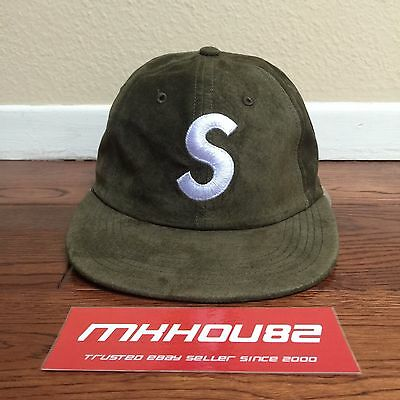 6241adcf3d466 New Supreme Suede S Logo 6-Panel Cap Camp Hat 5 Classic Fall Winter 2016