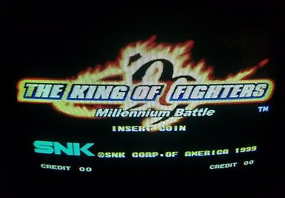 The King of Fighters 99 Green Video Arcade Game Cartridge SNK Neo Geo MVS Japan