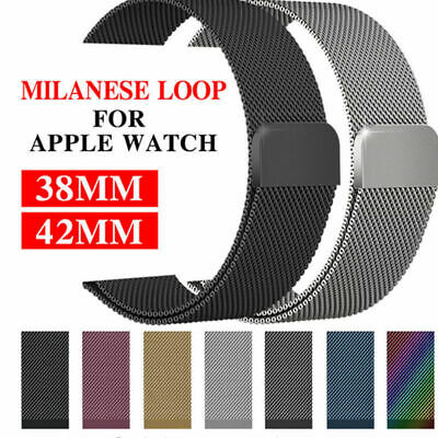 Metal Steel Milanese Mesh Loop Magnetic iwatch Band fr Apple Watch 38/40/42/44mm