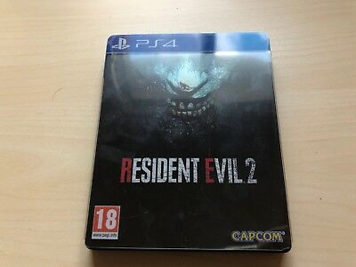 Limited STEELBOOK Caja Metalica RESIDENT EVIL 2 REMAKE PS4 NO JUEGO