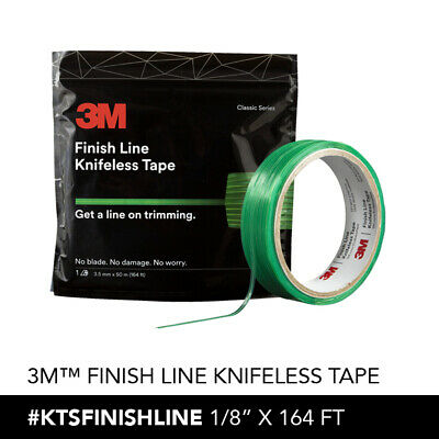 1 roll of 3M FINISH LINE KNIFELESS TAPE FOR GRAPHICS WRAPS 1/8''X16' 3.5MM X50 M