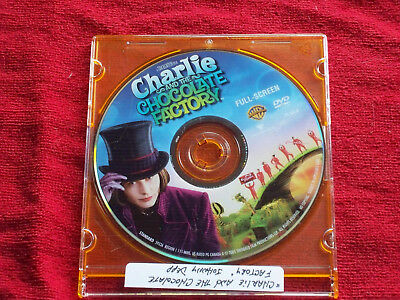 Charlie and the Chocolate Factory (DVD, 2005, FULLSCREEN) Johnny Depp DISC ONLY