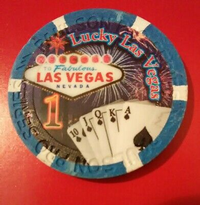 Paulson Company Las Vegas, Nevada Hard To Find Lucky $1.00 Advertising Chip!
