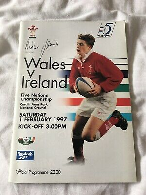 1997-Wales V Ireland-Five Nations-International Rugby Union Programme