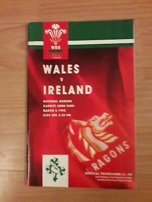 1993-Wales V Ireland-Five Nations-International Rugby Union Programme