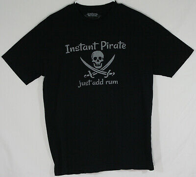 7f9fdbf3 Think Out Loud Apparel Mens Black XL T-Shirt Instant Pirate Just Add Rum (