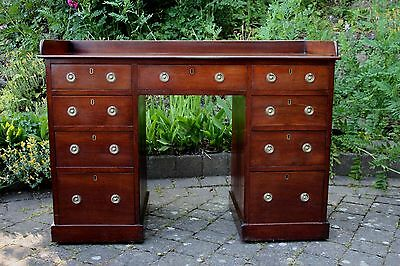 Antique Late 19th Century mahogany twin pedestal desk of good quality