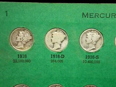 1916-1945 Mercury Silver Dime 10c **COMPLETE** Set East Coast Coin & Collectable