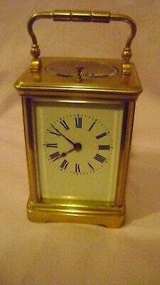 French Couaillet 8 Day Repeater Carriage Clock In Gwo + Key Cleaned & Oiled