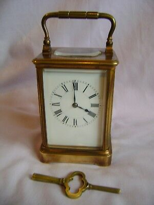 Antique Henri Jacot Striking Carriage Clock Serial Number Matches Key And Case