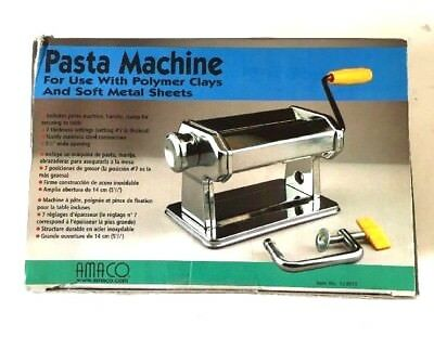 AMACO Craft Pasta Machine Polymer Clay Ceramics Metalworking Tool IN BOX!