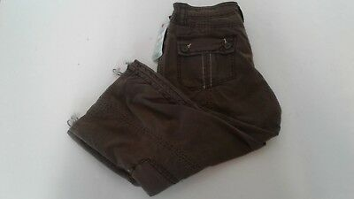 NEW UNIONBAY Youth Girls Junior Size 5 Brown Cargo Khaki Pants $34 NWT