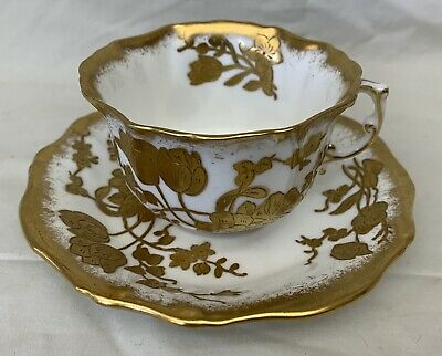 Hammersley & Co Bone China 11657 Antique Gold Painted Cup & Saucer