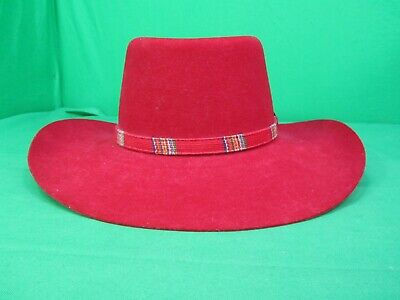 16c33c0c2d7b0 Stetson Pony Express Red Cowgirl-Cowboy Hat Size 6 3 4 WW177 Ruby Pure
