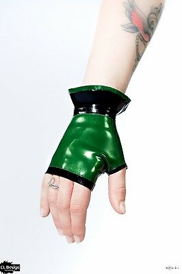 CL Design Latex Handschuhe Stulpen Mittens Gauntlets Rubber Fetish Sexy Hot