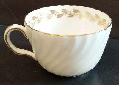S534 Gold Cheviot Minton Bone China Cup Ivory and Gold Made in England Excellent